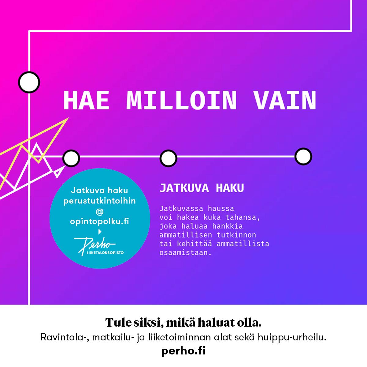 Jatkuva haku perustutkintoihin @ Opintopolku.fi