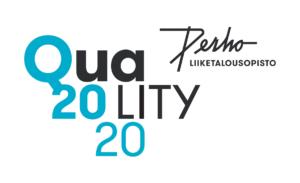 Perho Liiketalousopisto Quality 2020 -tunnus