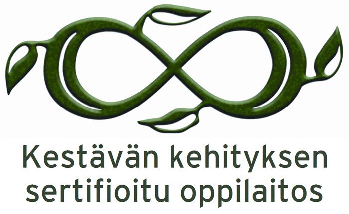 Perho Liiketalousopistolle oppilaitoksen kestävän kehityksen sertifikaatti