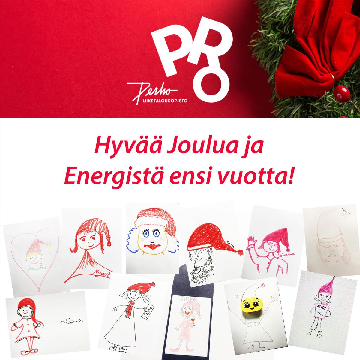 Hyvää joulua ja energistä uutta pro-vuotta!