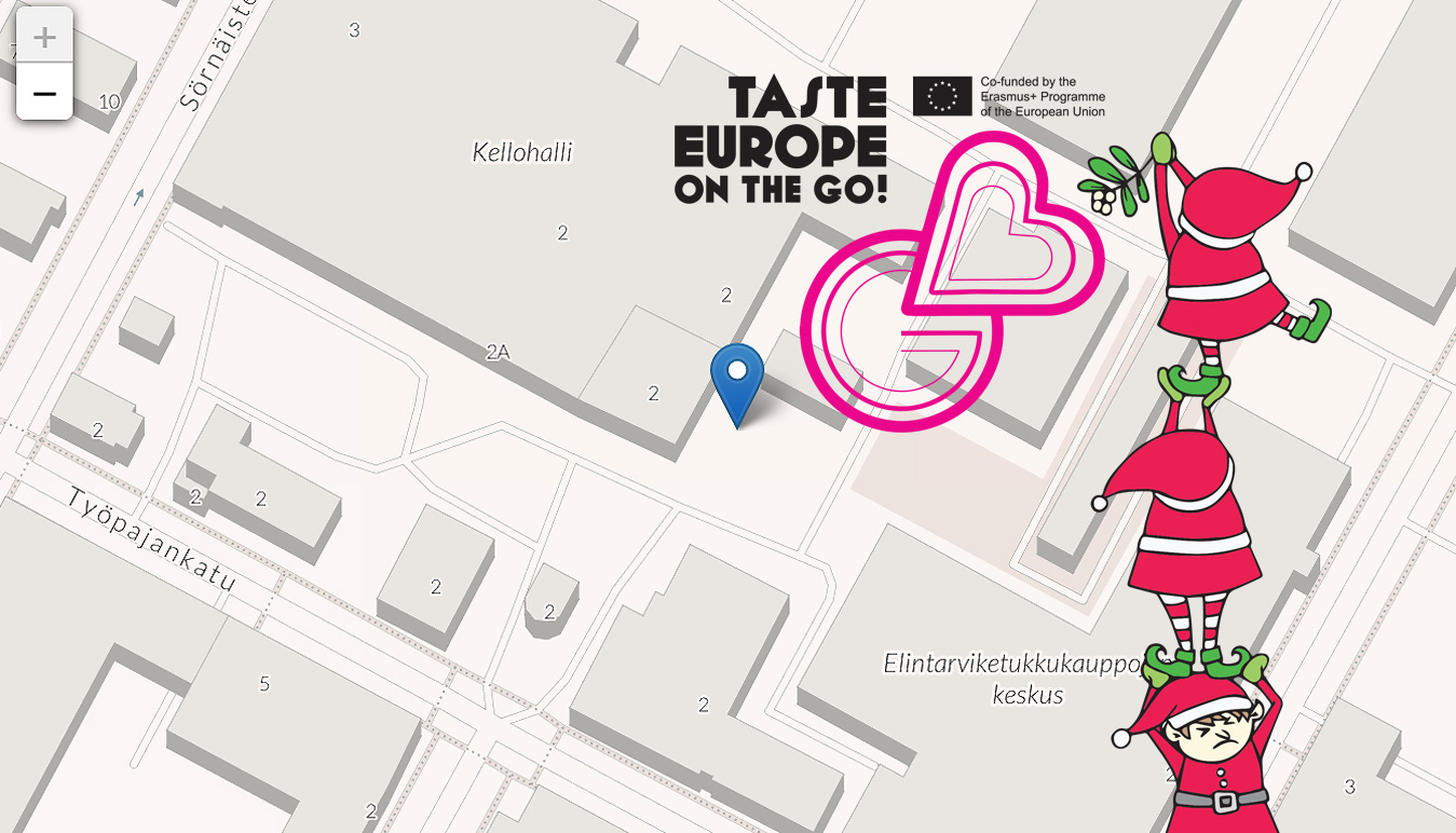 Teurastamon joulumarkkinat 2019 Erasmus+ Taste Europe on the Go!