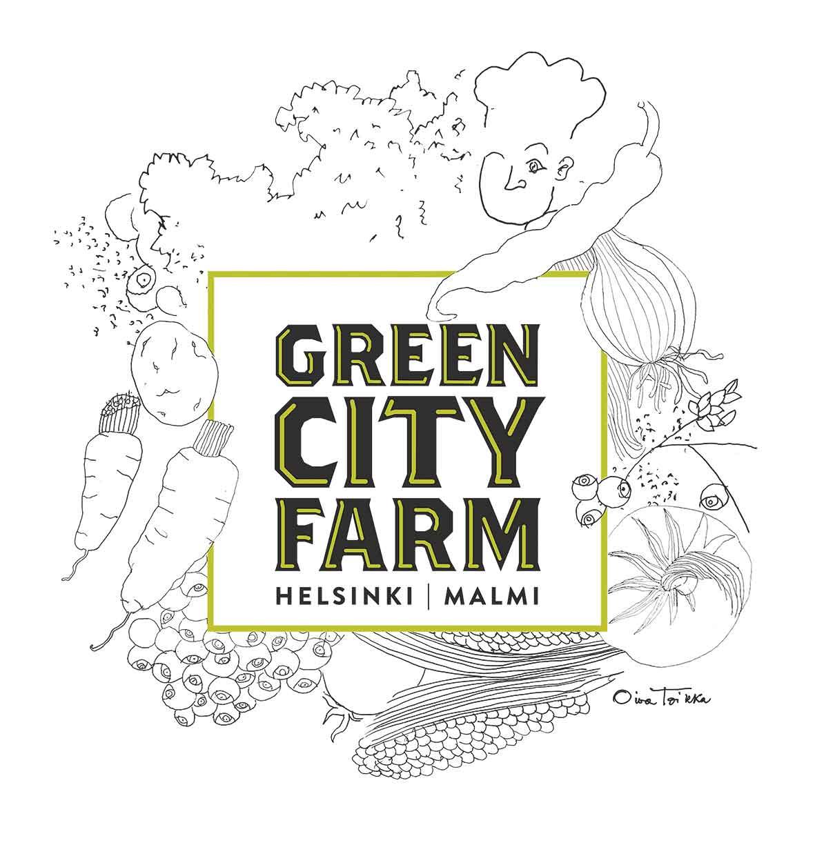 Kestävän gastronomian huippis kiittää! Green City Farm -logo