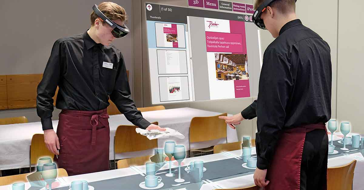 Waiters – Virtual Learning Environment with HoloLens for Perho Liiketalousopisto