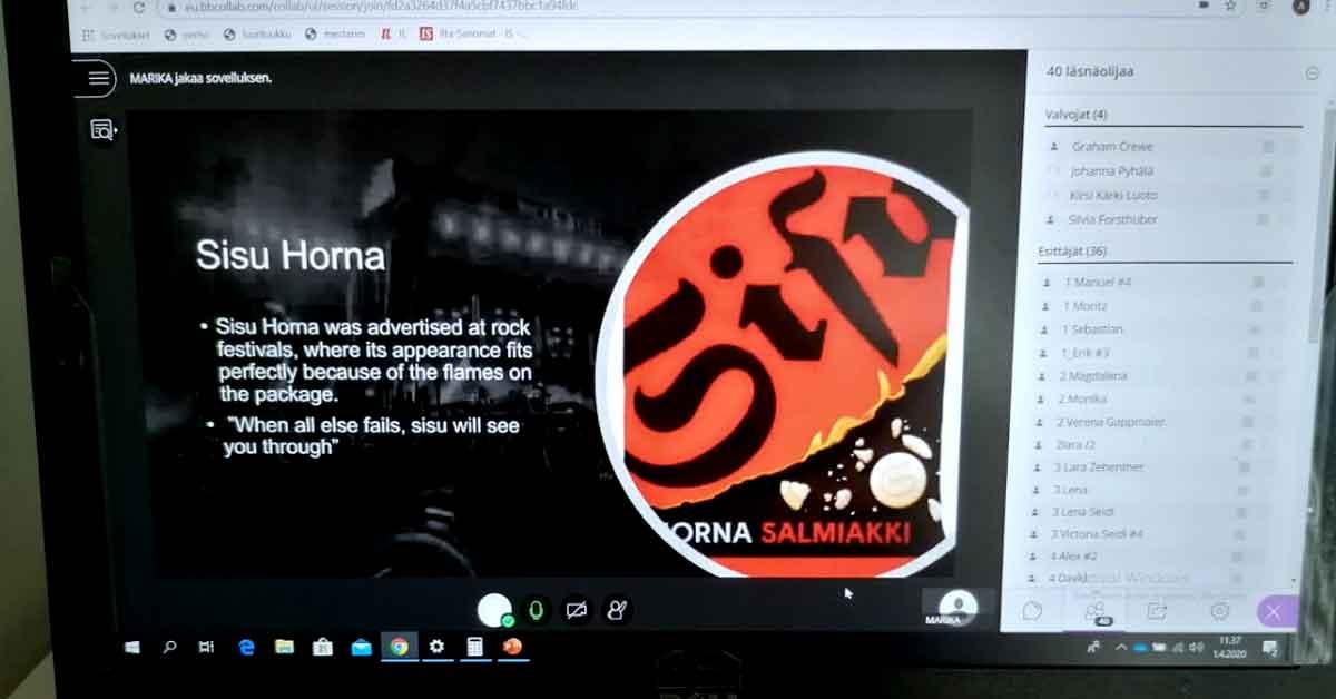 Virtuaali-B2B:tä Salzburgissa, Sisu Horna -myyntipresentaatio