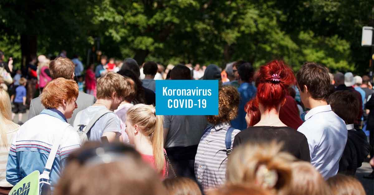 väkijoukko koronavirus